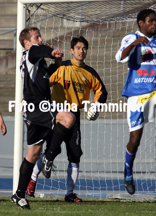 29.04.2009, Lahti, Finland..Veikkausliiga 2009 - Finnish League 2009.FC Lahti - Rovaniemen Palloseura.Jung-Hyuk Kwom - RoPS.©Juha Tamminen.