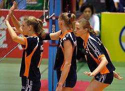 18-06-2000 JAP: OKT Volleybal 2000, Tokyo<br /> Nederland - China 3-0 / Ingris Visser, Chaine Staelens