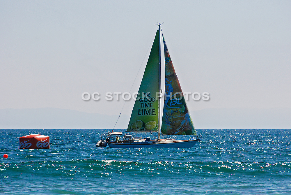 Sailboat at the Vans US Open of Surfing Huntington Beach