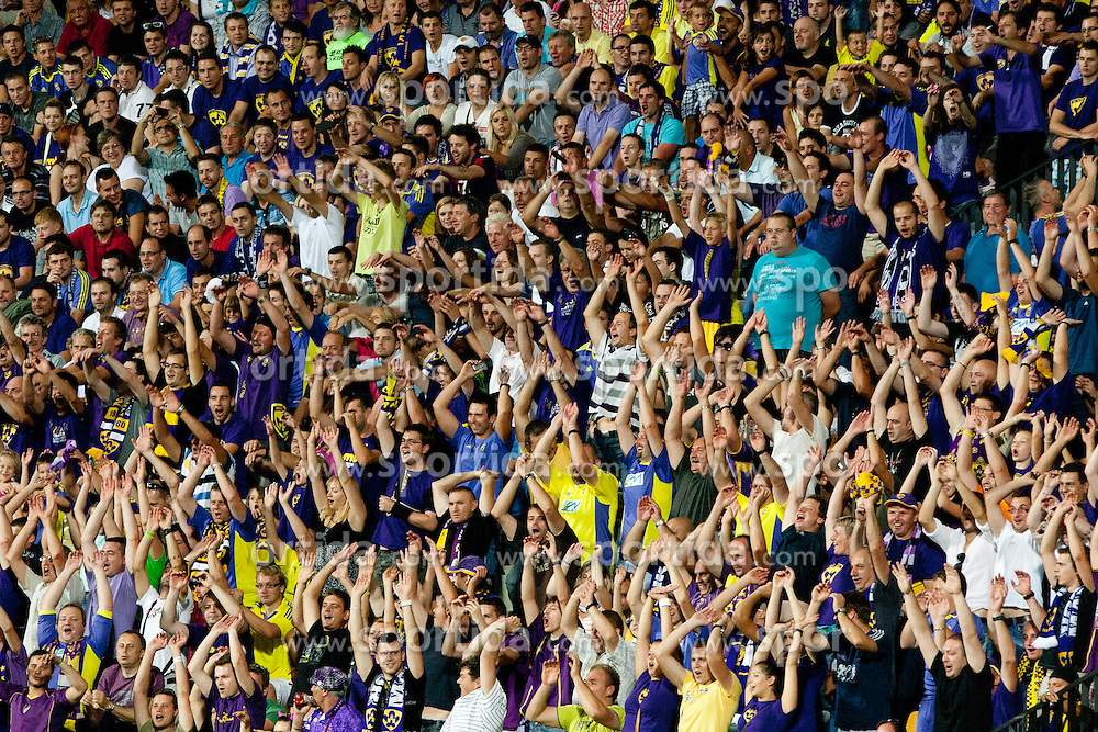 Visitors during 3rd qualifying round for Champions League between NK Maribor (Slovenia) and F91 Dudelange (Luxembourg), on August 1, 2012, in Maribor, Slovenia. (Photo by Urban Urbanc / Sportida)
