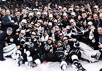 13 June 2014 The Kings Take The team Photo with The Stanley Cup AT Center Ice during The Post Game Celebration of The Stanley Cup Final between The New York Rangers and The Los Angeles Kings AT Staples Center in Los Angeles Approx The Kings defeated The Rangers 3 2 to Win The Stanley Cup NHL Ice hockey men USA Jun 13 Stanley Cup Final Rangers AT Kings Game 5 <br />