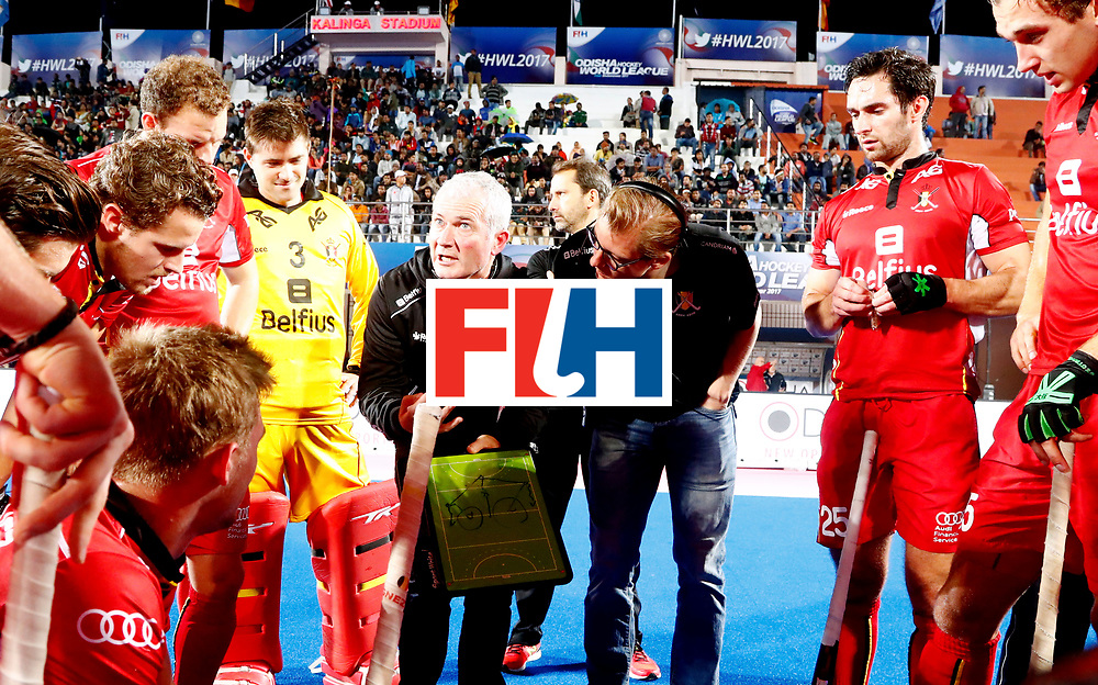 Odisha Men's Hockey World League Final Bhubaneswar 2017<br /> Match id: 18<br /> Belgium v Spain<br /> Foto: coach Shane McLeod (Bel) <br /> COPYRIGHT WORLDSPORTPICS KOEN SUYK