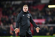 AFC Bournemouth Manager Eddie Howe celebrates at the final whistle during the The FA Cup match between Bournemouth and Luton Town at the Vitality Stadium, Bournemouth, England on 4 January 2020.