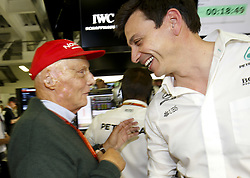 October 29, 2017 - Mexico-City, Mexico - Motorsports: FIA Formula One World Championship 2017, Grand Prix of Mexico, .Niki Lauda (AUT, Mercedes AMG Petronas Formula One Team), Toto Wolff (AUT, Mercedes AMG Petronas Formula One Team) (Credit Image: © Hoch Zwei via ZUMA Wire)