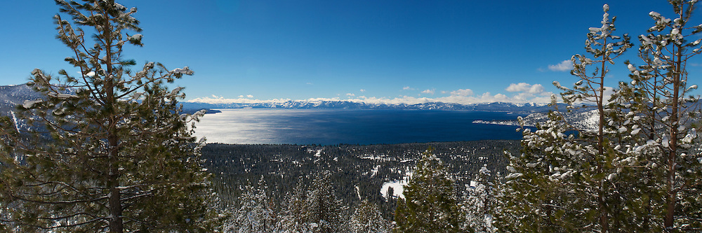 Lake Tahoe shot from the Nevada side.