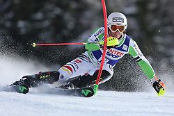 06.01.2014, Stelvio, Bormio, ITA, FIS Ski Alpin Weltcup, Salom, Herren, 1. Durchgang, im Bild Fritz Dopfer (GER) // Fritz Dopfer of Germany in action during 1st run of mens Slalom of the Bormio FIS Ski World Cup at the Stelvio Course in Bormio, Italy on 2014/01/06. EXPA Pictures © 2014, PhotoCredit: EXPA/ Sammy Minkoff<br /> <br /> *****ATTENTION - OUT of GER*****
