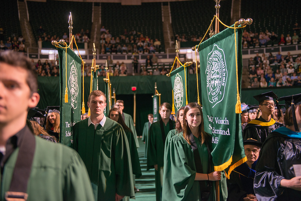 Graduate Commencement. Photo by Ben Siegle