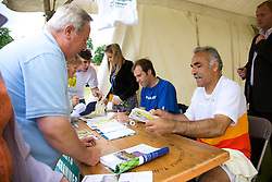 Liverpool, England - Saturday, June 16, 2007: Greg Rusedski and Mansour Bahrami sign autograpgs on day five of the Liverpool International Tennis Tournament at Calderstones Park. For more information visit www.liverpooltennis.co.uk. (Pic by David Rawcliffe/Propaganda)