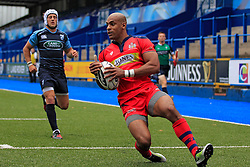 Tom Varndell of Bristol Rugby scores their first try - Mandatory by-line: Ian Smith/JMP - 20/08/2016 - RUGBY - BT Sport Cardiff Arms Park - Cardiff, Wales - Cardiff Blues v Bristol Rugby - Pre-season friendly