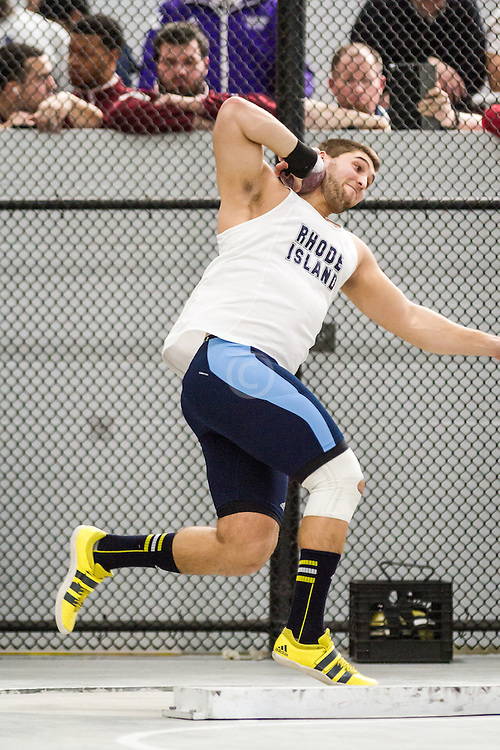 Boston University John Terrier Classic Indoor Track & Field: mens shot put, Rhode Island, Sam Synder
