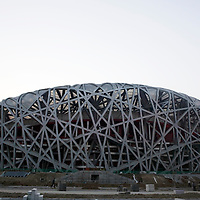 BEIJING, MARCH :7 : a view of the Bird's nest .