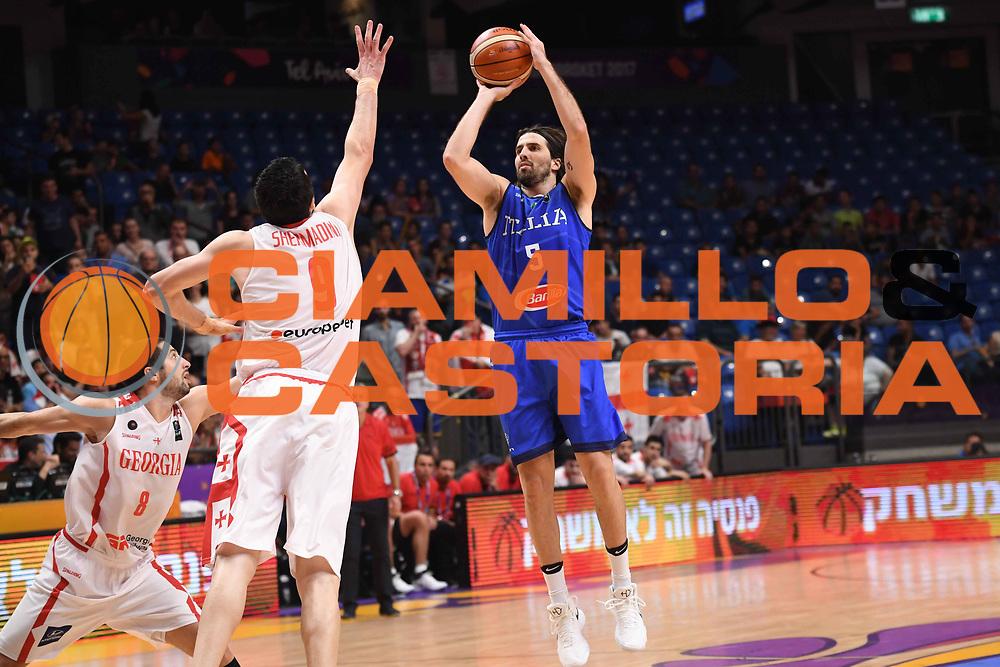 Ariel Filloy<br /> Nazionale Italiana Maschile Senior<br /> Eurobasket 2017 - Group Phase<br /> Georgia Italia Georgia Italy<br /> FIP 2017<br /> Tel Aviv, 06/09/2017<br /> Foto M.Ceretti / Ciamillo - Castoria