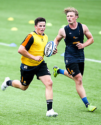 Will Butler and Tom Howe of Worcester Warriors during preseason training ahead of the 2019/20 Gallagher Premiership Rugby season - Mandatory by-line: Robbie Stephenson/JMP - 06/08/2019 - RUGBY - Sixways Stadium - Worcester, England - Worcester Warriors Preseason Training 2019