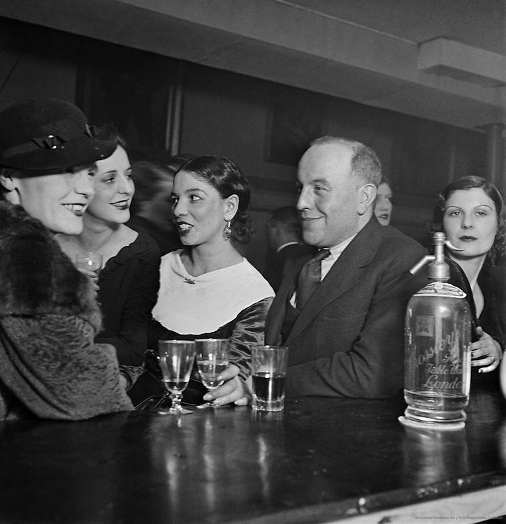 "At the Bar in the Pheasantry Club, ""Bohemia"" Series, London, England, 1935"