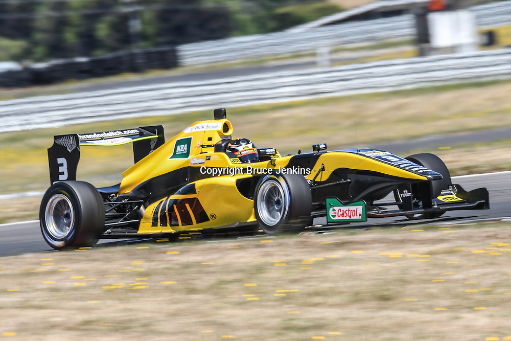 Brendon Leitch (NZ) wins race 1 from round 4 of the Castrol Toyota Racing Series at Taupo on Saturday February 4 2017