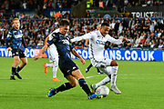 Jamie Shackleton (46) of Leeds United during the EFL Sky Bet Championship match between Swansea City and Leeds United at the Liberty Stadium, Swansea, Wales on 21 August 2018.