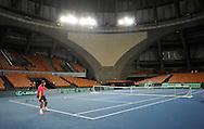 Wroclaw 29/01/2013.Hala Stulecia.Davis Cup .Poland vs Slovenia.Lukasz Kubot of Poland during the training session.Photo by : Piotr Hawalej