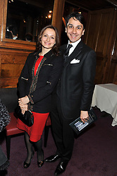 FRANCOIS LE TROQUER MD of Cartier UK and his wife LIUDMILA LE TROQUER at the Russian Ballet Icons Gala & Dinner dedicated to Anna Pavlova held at the The London Coliseum 33-35 St.Martin's Lane, London on 4th March 2012.