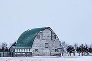 An old barn weathers another winter near Sturgis, South Dakota, on Friday, Jan. 12, 2018.