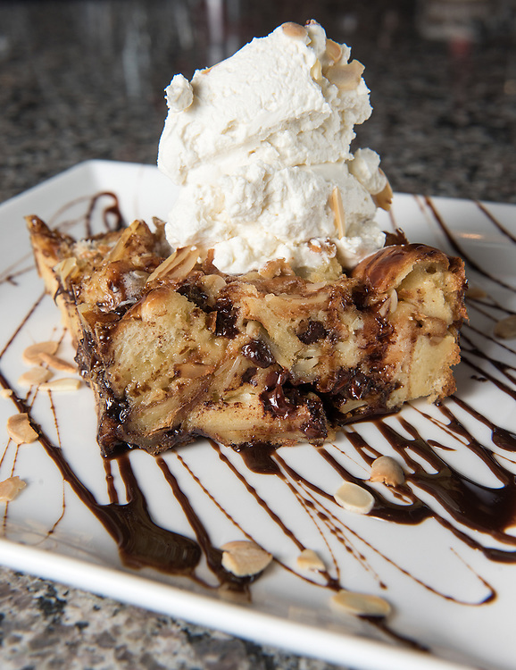Photo by Mara Lavitt<br /> Wallingford, CT<br /> November 29, 2016<br /> Tap & Vine restaurant, Wallingford. Bread pudding dessert.