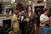 CLARA FARMER, David Campbell and Knopf host the 20th Anniversary of the revival of Everyman's Library. Spencer House. St. James's Place. London. 7 July 2011. <br /> <br />  , -DO NOT ARCHIVE-© Copyright Photograph by Dafydd Jones. 248 Clapham Rd. London SW9 0PZ. Tel 0207 820 0771. www.dafjones.com.