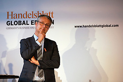 UK ENGLAND LONDON 22JUN16 - Gabor Steingart, publisher of Handelsblatt speaks during a podium discussion hosted by Handelsblatt at the Beagle Bar & Restaurant, Hoxton, London.<br /> <br /> jre/Photo by Jiri Rezac<br /> <br /> © Jiri Rezac 2016