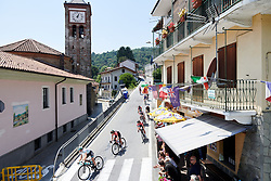 The peloton speed into Rubiana on Stage 2 of 2019 Giro Rosa Iccrea, an 78.3 km road race starting and finishing in Viù, Italy on July 6, 2019. Photo by Sean Robinson/velofocus.com