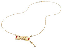 gold taken necklace with key charm