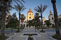 Pasadena City Hall from Plaza Las Fuentes, Pasadena, California