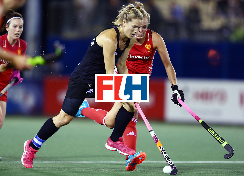 New Zealand, Auckland - 24/11/17  <br /> Sentinel Homes Women&rsquo;s Hockey World League Final<br /> Harbour Hockey Stadium<br /> Copyrigth: Worldsportpics, Rodrigo Jaramillo<br /> Match ID: 10310 - ENG-NZL<br /> Photo: (31) MICHELSEN Stacey&nbsp;(C) agaisnt \e