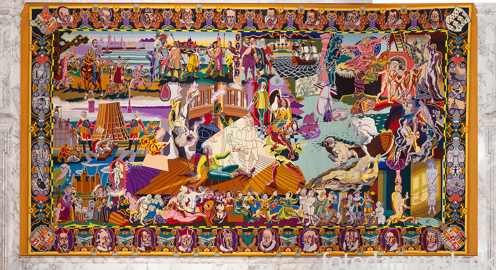 On the occasion of HM Queen Margrethe II 50th birthday in 1990, Queen Margrethe II decided to use a gift from industry of 13 million Danish crowns to produce a series of tapestries tracing the history of Denmark from the beginnings to the present day. Woven by the historic Manufacture des Gobelins in Paris, the tapestries were based on Nørgaard's full-sized sketches. Completed in 1999, they now hang in the Great Hall at Christiansborg Palace.