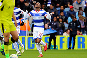 Queens Park Rangers midfielder Yeni Atito Ngbakoto (23) celebrating after scoring during the EFL Sky Bet Championship match between Queens Park Rangers and Rotherham United at the Loftus Road Stadium, London, England on 18 March 2017. Photo by Matthew Redman.
