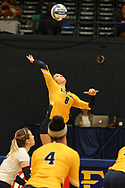 October 28, 2017 - Johnson City, Tennessee - Brooks Gym: ETSU outside hitter Leah Clayton (8)<br /> <br /> Image Credit: Dakota Hamilton/ETSU
