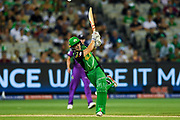 14th January 2019, Melbourne Cricket Ground, Melbourne, Australia; Australian Big Bash Cricket, Melbourne Stars versus Hobart Hurricanes; Sebastian Gotch of the Melbourne Stars hits a six