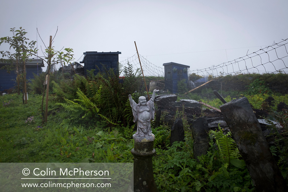 'Small statue, 2018' from Colin McPherson's project 'Treasured Island' part of the Document Scotland exhibition entitled 'A Contested Land' which will launch at the Martin Parr Foundation, Bristol, on 16th January, 2019. McPherson's work was made in 2018-2019 on Easdale, the smallest permanently inhabited Inner Hebridean island and looks at the historical legacy of the island, once world famous for its slate mining industry.<br /> <br /> Photograph © Colin McPherson, 2018 all rights reserved.
