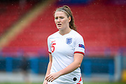 Niamh Cashin (#15) of England during the UEFA Women's U19 European Championship match between England Women and Spain at Forthbank Stadium, Stirling, Scotland on 19 July 2019.