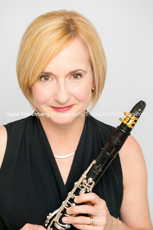 3/15/16 4:22:52 PM -- Susan Warner, Clarinet photographed in studio.  Chicago, IL, USA<br /> . &copy; Todd Rosenberg Photography 2016