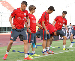 11.06.2015, Stadion Poljud, Split, CRO, UEFA Euro 2016 Qualifikation, Kroatien vs Italien, Gruppe H, Training Kroatien, im Bild Ante Rebic, Alen Halilovic, Mateo Kovacic // during trainig of Team Croatia prior to the UEFA EURO 2016 qualifier group H match between Croatia and and Italy at the Stadion Poljud in Split, Croatia on 2015/06/11. EXPA Pictures © 2015, PhotoCredit: EXPA/ Pixsell/ Ivo Cagalj<br /> <br /> *****ATTENTION - for AUT, SLO, SUI, SWE, ITA, FRA only*****
