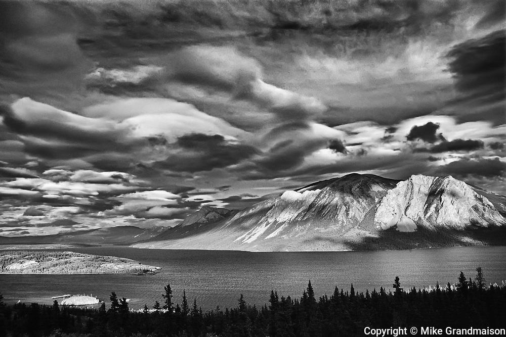 Nares Mountain and Nares Lake, an arm of Tagish Lake.<br />Nares Lake<br />Yukon<br />Canada
