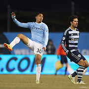 Javier Calle, NYCFC, in action during the New York City FC Vs Sporting Kansas City, MSL regular season football match at Yankee Stadium, The Bronx, New York,  USA. 27th March 2015. Photo Tim Clayton