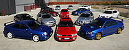 Subaru Impreza WRX Group Shoot .Port Melbourne, Melbourne, Victoria,.2nd February 2008.(C) Joel Strickland Photographics.Use information: This image is intended for Editorial use only (e.g. news or commentary, print or electronic). Any commercial or promotional use requires additional clearance.