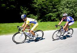 Domenico Loria (ITA) of Centri della Calzatura and Uros Murn (SLO) of Adria Mobil at 2nd stage of Tour de Slovenie 2009 from Kamnik to Ljubljana, 146 km, on June 19 2009, Slovenia. (Photo by Vid Ponikvar / Sportida)