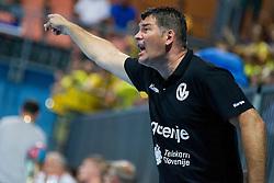Gregor Cvijic, head coach of RK Gorenje Velenje during handball match between RK Celje Pivovarna Lasko vs RK Gorenje Velenje of Super Cup 2015, on August 29, 2015 in SRC Marina, Portoroz / Portorose, Slovenia. Photo by Urban Urbanc / Sportida