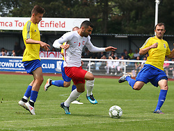 May 31, 2018 - London, England, United Kingdom - Tansel Taner of Northern Cyprus .during Conifa Paddy Power World Football Cup 2018  Group B match between Northern Cyprus against Karpatalya at Queen Elizabeth II Stadium (Enfield Town FC), London, on 31 May 2018  (Credit Image: © Kieran Galvin/NurPhoto via ZUMA Press)
