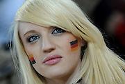A pretty German fan before the 2010 FIFA World Cup South Africa Group D match between Ghana and Germany at Soccer City Stadium on June 23, 2010 in Johannesburg, South Africa.