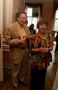 Michael Holroyd and Margaret Drabble. Book launch of Take A Girl Like Me - Life With George by Diana Melly. The Polish Club. Exhibition Rd. London. 21 July 2005. ONE TIME USE ONLY - DO NOT ARCHIVE  © Copyright Photograph by Dafydd Jones 66 Stockwell Park Rd. London SW9 0DA Tel 020 7733 0108 www.dafjones.com