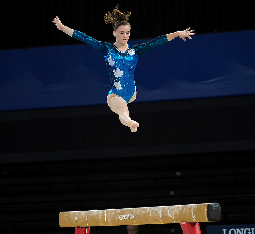 Glasgow, JULY 30, 2014: Wrestling - medal matches; women's gymnastics