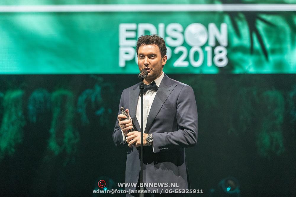 NLD/Amsterdam/20180213 - Edison Pop Awards 2018, Tino Martin
