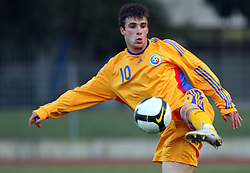 Costantin Gangioveanu of Romania  during Friendly match between U-21 National teams of Slovenia and Romania, on February 11, 2009, in Nova Gorica, Slovenia. (Photo by Vid Ponikvar / Sportida)