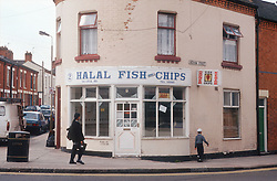 Fish and chip shop located on street corner,